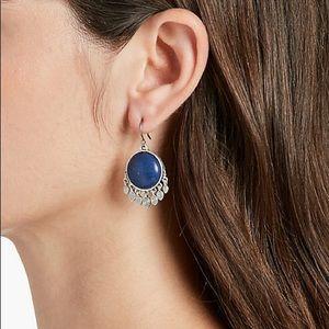 LB Precious Stone Fringe Drop Dangle Earrings